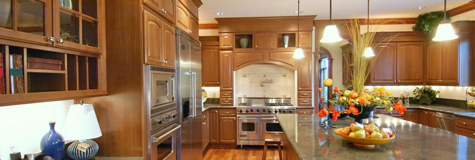 Handmade Kitchen with Grand Over Mantle Woodwork