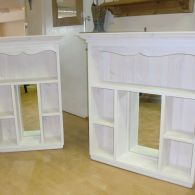 Bathroom Cabinets with mirrors and lime waxed