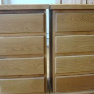 Pair of Modern Flush Drawer Oak Unit