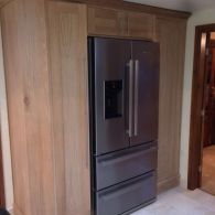 Handmade Oak Fitted Kitchen Cupboards